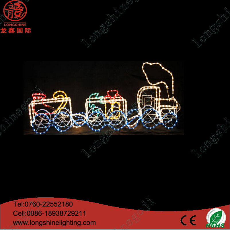 A Little Train 3D Rope Decor Light for Chrismas