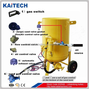 dustless small blasting pot with blasting nozzle