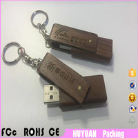Promotional gift Natural Wooden flash drive usb 3.0 with Custom Logo