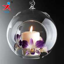 Wedding Decorations - Hanging glass ball with holes for candles or flowers