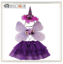 Sales-well kids party butterfly Angel Wings and cute tutu