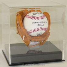 acrylic sport products baseball and baseball glove display box wholesale
