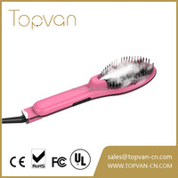 2017 NEW electric LCD hair brush straightener with spray pump