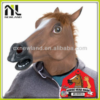 New Eco-friendly zombie party halloween horse head ugly masks