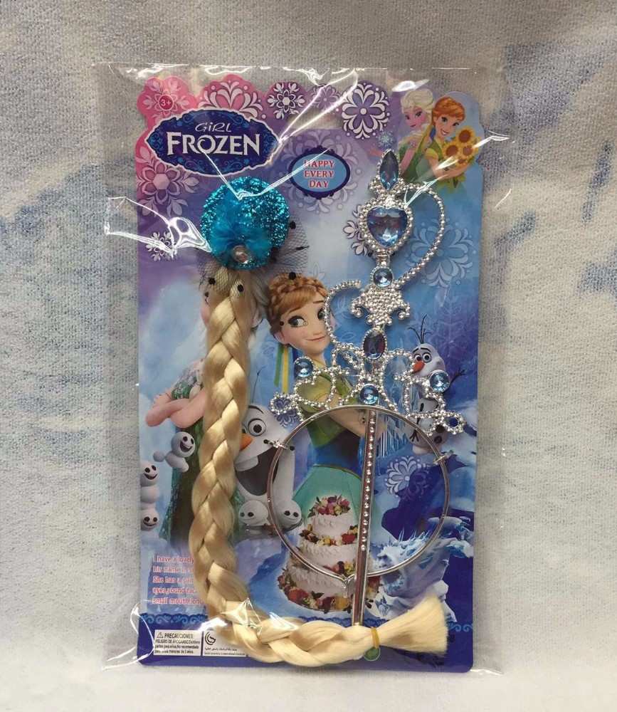2015 Frozen fever Crown frozen fever Tiara Hair Accessories Crown + Wig +Magic Wand