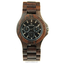 Wristwatches high quality leather quartz wholesale wood watch