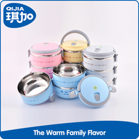 Explosion models stainless steel pp double layer food warmer