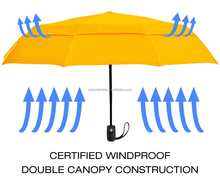 double canopy umbrella with sun umbrella and rain umbrella made by dupont teflon fabric