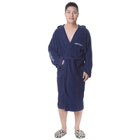 Man hot sell sexs bathrobe 100% cotton robe with logo embroidery