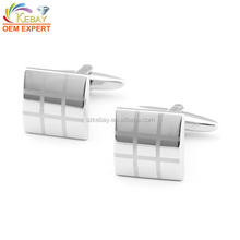 Wholesale brass restrained elegance alphabet cuff links