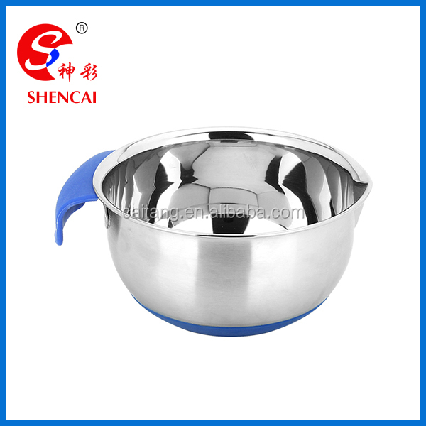 non skid base mixing bowl grip batter bowl stainless steel salad bowl