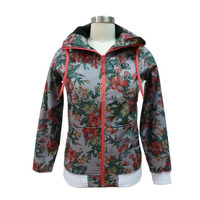 casual sport wear zip-up hoodie outdoor bomber jacket woman for autumn and winter