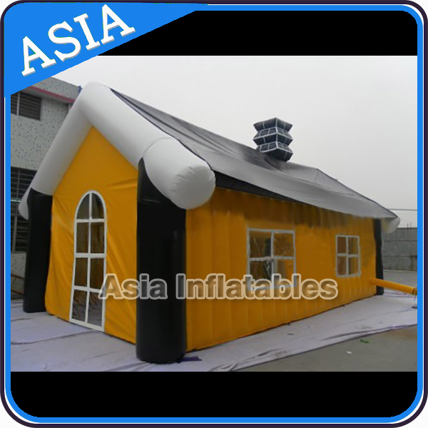 Air tight family inflatable camping tent 4mx3m / large storage tent / cheap custom printed canopy tent