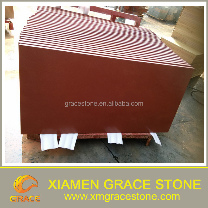 Chinese pure Red Sandstone cut to size floor tiles
