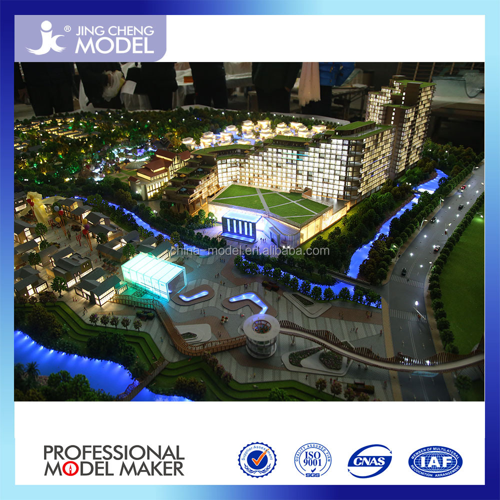 Low price architectural scale models with LED lighting