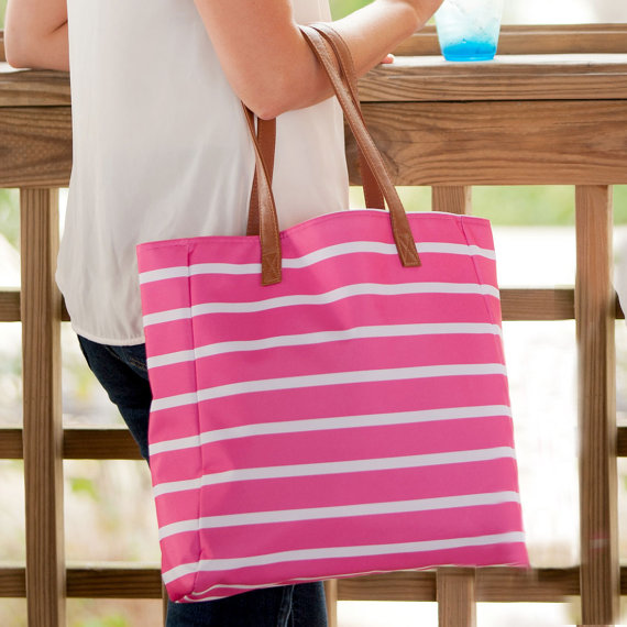 High quality striped ultimate tote bag chevron canvas beach bag
