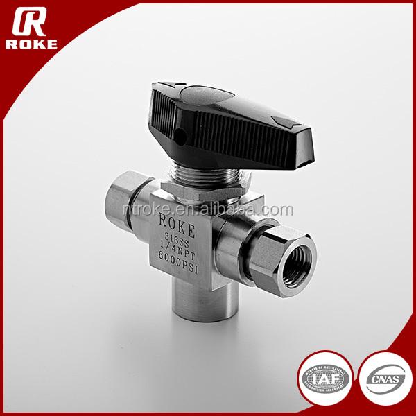 stainless steel 10000psi cng dispenser 3 way ball valve for gas