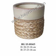 weaving Ceramic flower pots for garden decoration ( HG 15-1014/3 )