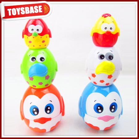 Lovely egg stacking cups intelligent plastic baby stacking cup games