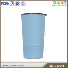 Powder coated double wall 304 stainless steel vacuum mug thermo tumbler insulated 16oz pint cup
