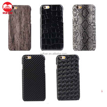 Wholesale Various Design Snake Texture Wood Pattern Pu Leather Coated Hard Case for Iphone 6 6s Plus 5 SE
