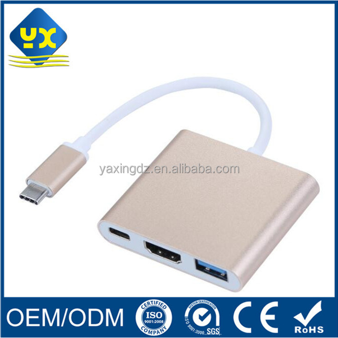 Wholesale multifunctional USB 3.1 Type C To high quality Displayport USB3.0/DP/VGA/DVI Female adapter Cable for PC/macbook