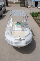 5.2m white fiberglass sea boat with CE certification inflatable boat
