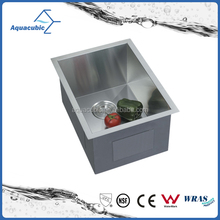 Practical design deep handmade modern kitchen single-bowl square stainless steel Inox laundry sink