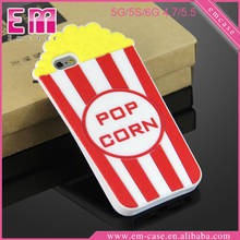 3D silicone rubber POP Corn case for iPhone 6 6S Plus