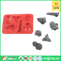 2016 Floral Silicone Molds Animal Silicone Molds Xmas Design Ice Trays
