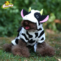 Dog Cow Fleece Costume Jumpsuit Coat Hoodie Pet Cat Clothes Pajamas