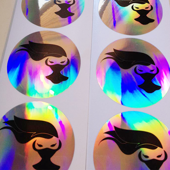 Security 3d custom hologram sticker with serial numbers