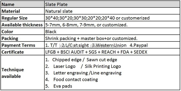 2018 sales 100% natural slate cheese board