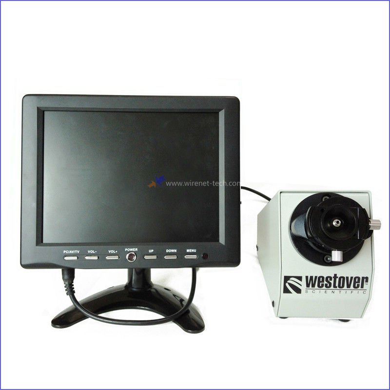 "8"" LCD Monitor 400X Fiber Optic Inspection Microscope"