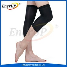 copper infused polyester fabric compression knee sleeve for support