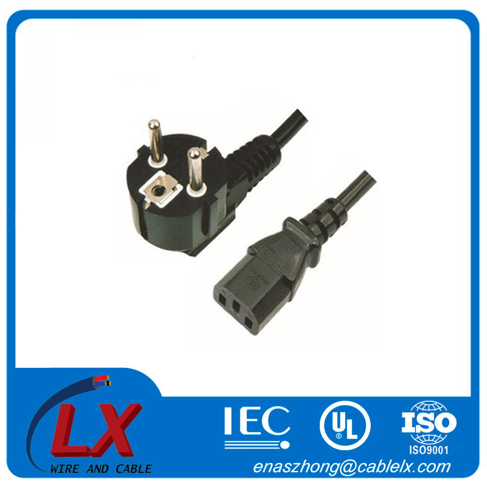 3 pin connector ac power cord for home appliance