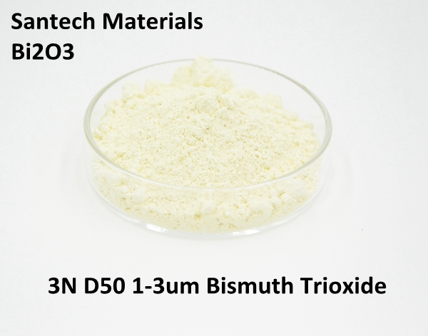 High Purity B2iO3 to make Firework / Glass / Electronic raw material Good Price Bismuth Oxide