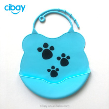 Waterproof soft Comfortable silicone baby bib for toddler easy use