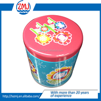 Special customized round tin box for tea packaging with inner insert lid/candy tin can /tin box packing