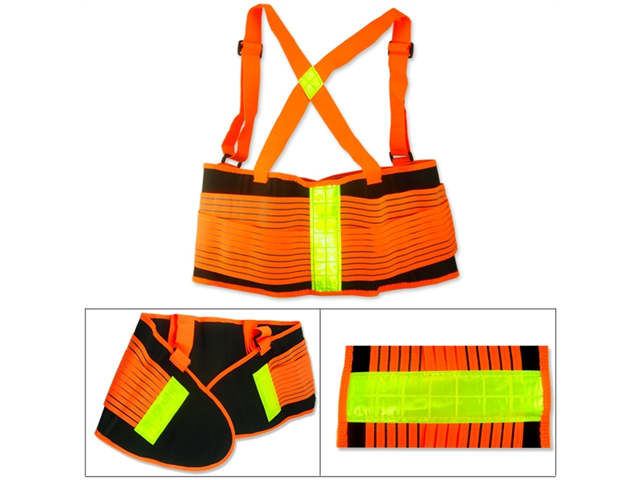 Orange Reflective Lumbar Back Support Belt For Working