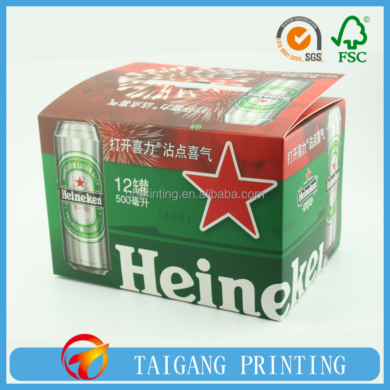 Famous Brand Strong Foldable Design Beer Box