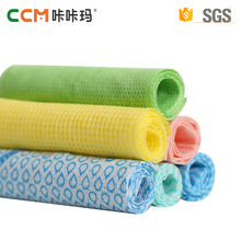 2017 China factory hot sale disposable spunlace nonwoven fabric household cleaning wiping rag