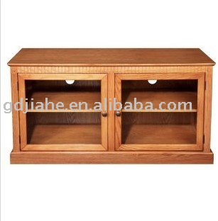 2014 LED LCD Plasma 40 inch TV Stands,Double glass doors wooden TV stand