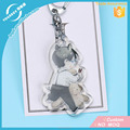 Vograce Acrylic Charms Custom Printed Cute Clear Glitter Epoxy Acrylic Keychain/Acryllic Charms Anime Wholesale