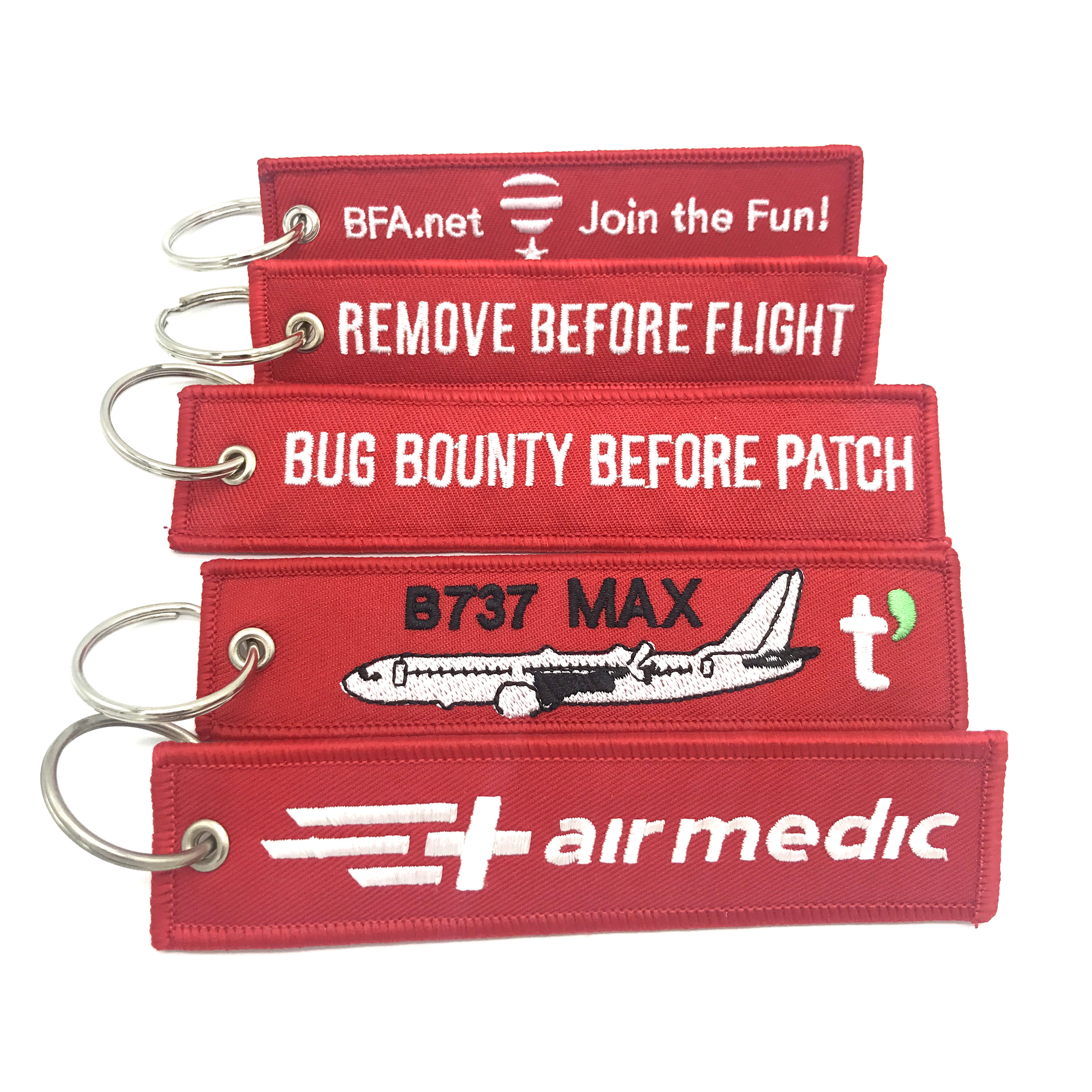 Airbus Craft Patches Embroidery Keychain Custom Patch Embroider Key Chian Wholesale
