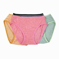 Guangzhou Bestway Underwear Wholesale cheap soft cotton crotchless panties 120pcs packed mix color 0.28USD