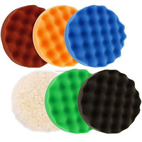 thickness 5mm wool sponge buffing pads for cars