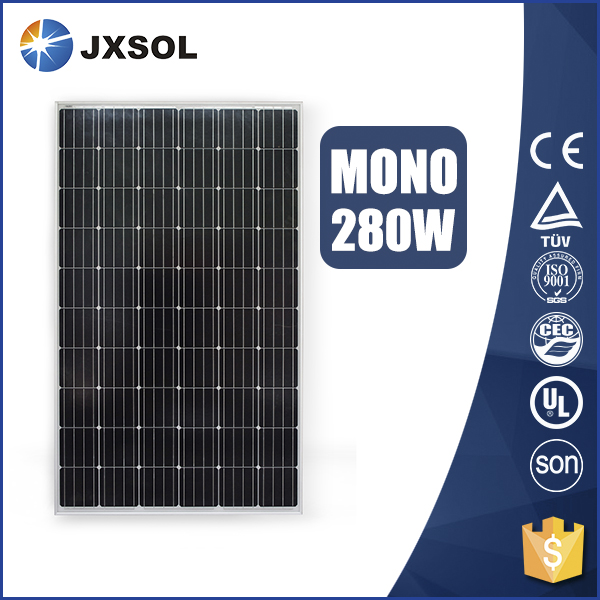 Hot sale 2017, monocrystalline pv model 280w mono solar panel with supreme quality