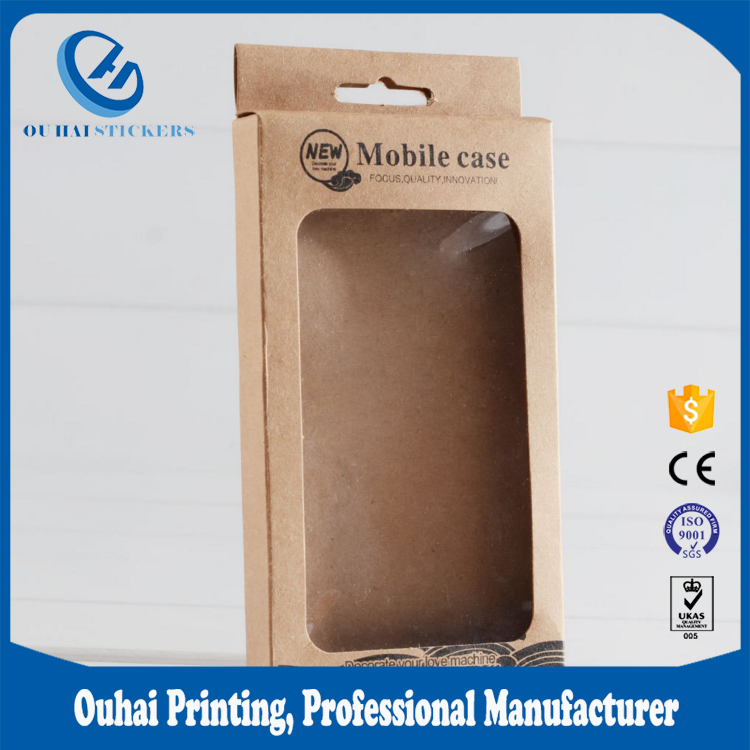 Paper box for mobile phone case packaging