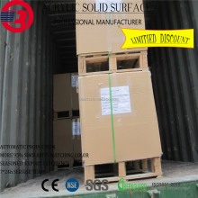 Joint invisible composite snow white artificial stone solid surface